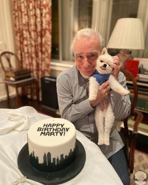 Именинник Мартин Скорсезе с тортиком и пёсиками Именитому режиссёру исполнилось 78 лет