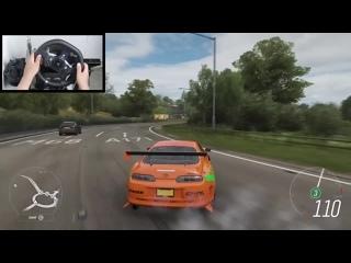[Gtoofast] Forza Horizon 4 Paul Walker Toyota Supra (Steering Wheel + Shifter) Fast and Furious Gameplay
