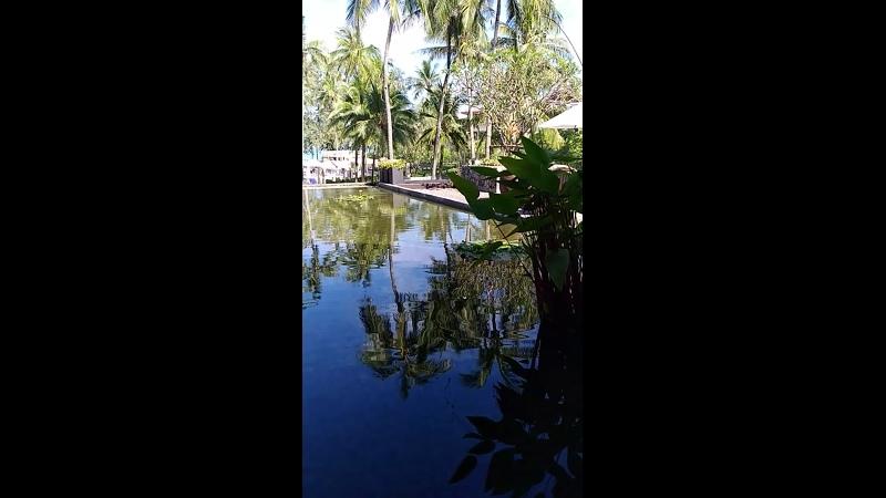 Терраса за зоной лобби в отеле Outrigger Laguna Phuket Beach Resort 5*