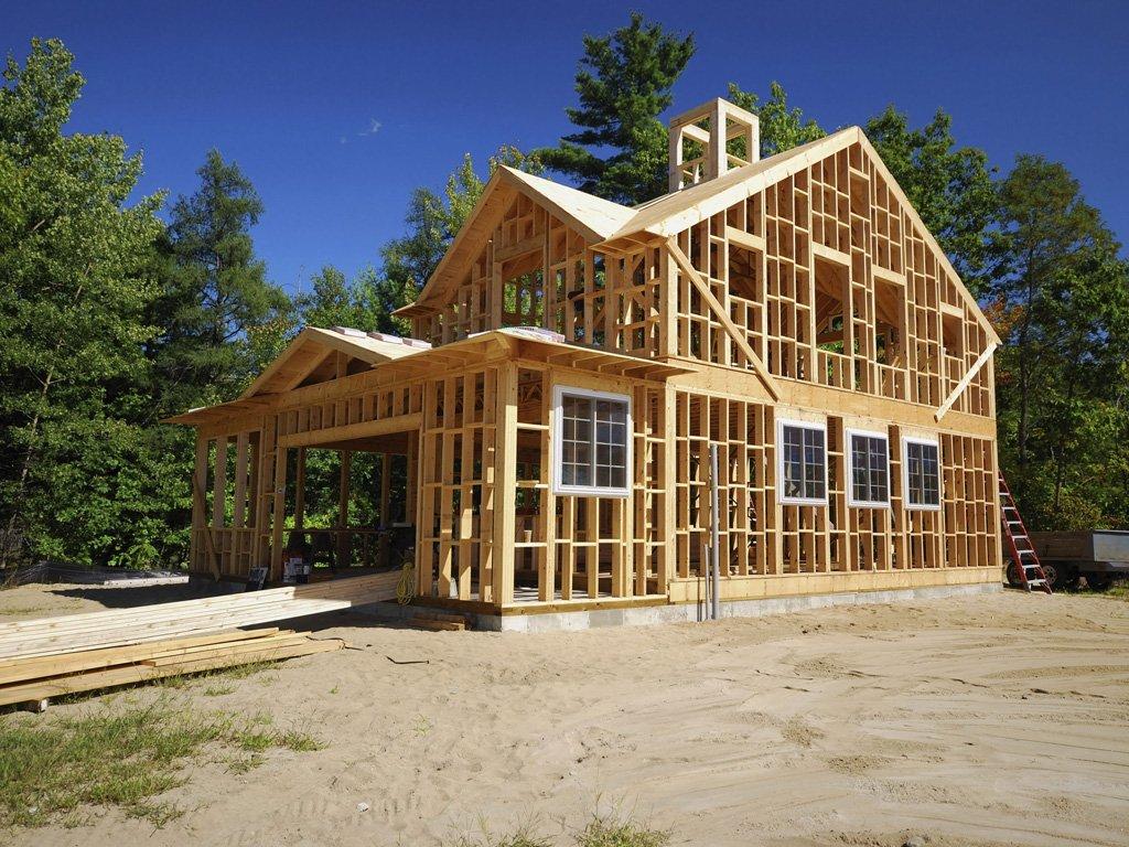 Каркасный дом, строение типа «А»