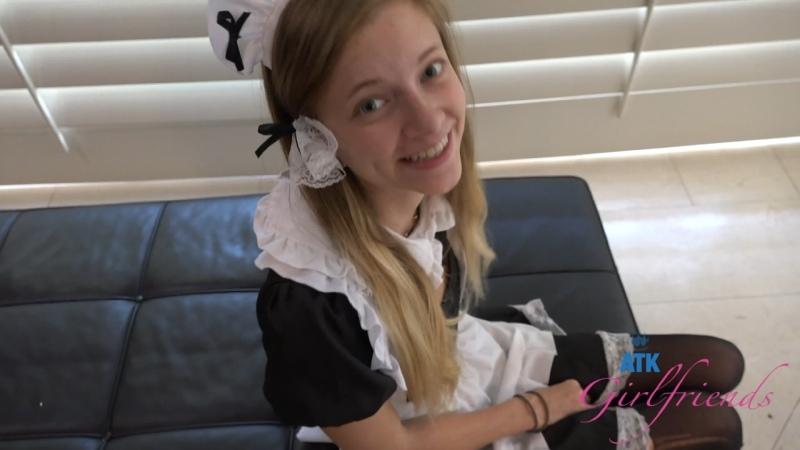 Riley Star ATKGirlfriends Maid Creampie, , POV blonde teen uniform blowjob sex porn 4