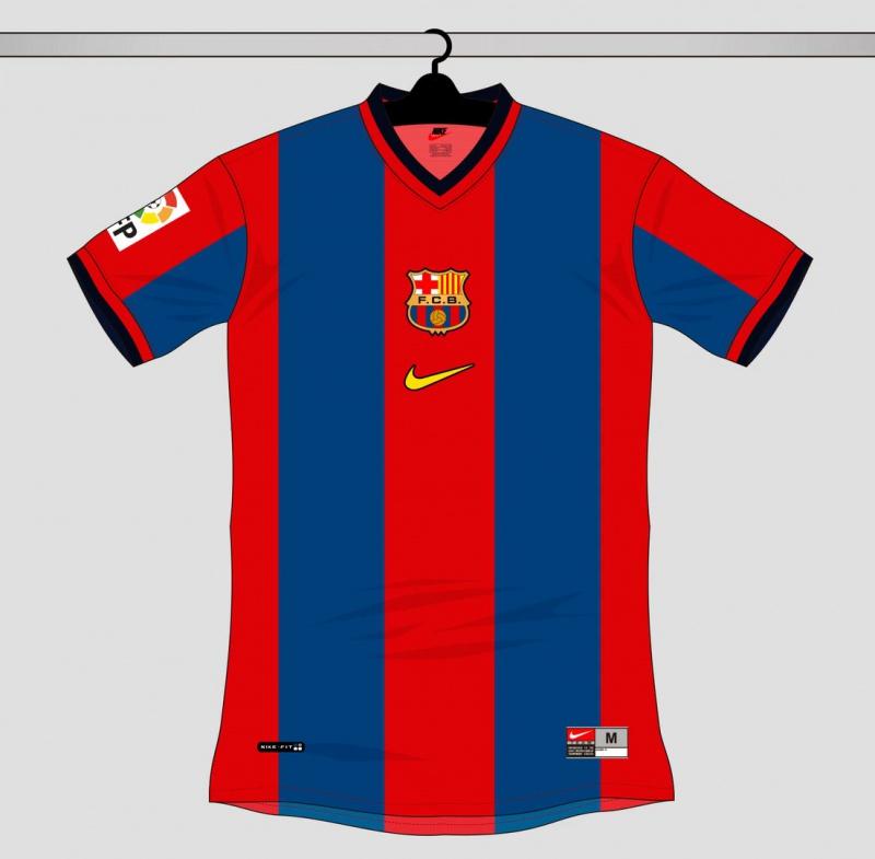 Все футболки Барселоны выпущенные Nike 1998-2016
