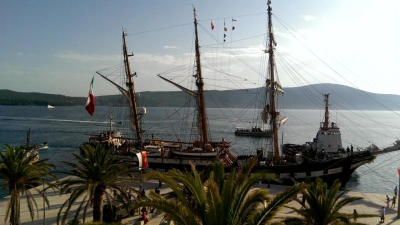 Прибытие в Тиват баркентины «Palinuro» ВМС Италии.