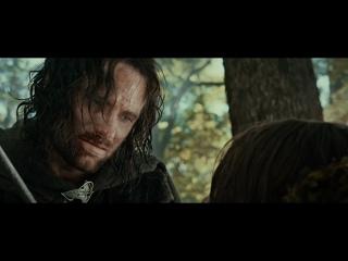Властелин колец - Арагорн сражается против командира орков и гибель Боромира
