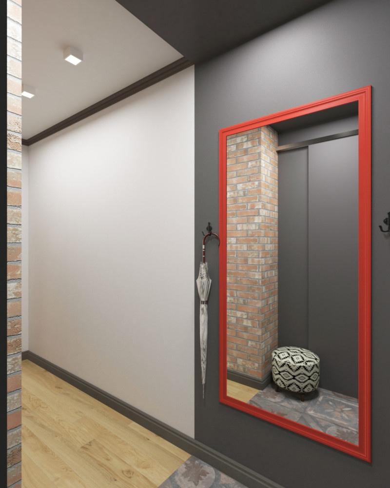 Проект студии из однокомнатной квартиры 44 м.