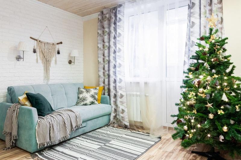 Новогодний интерьер квартиры-студии 30 м в Реутове, МО.