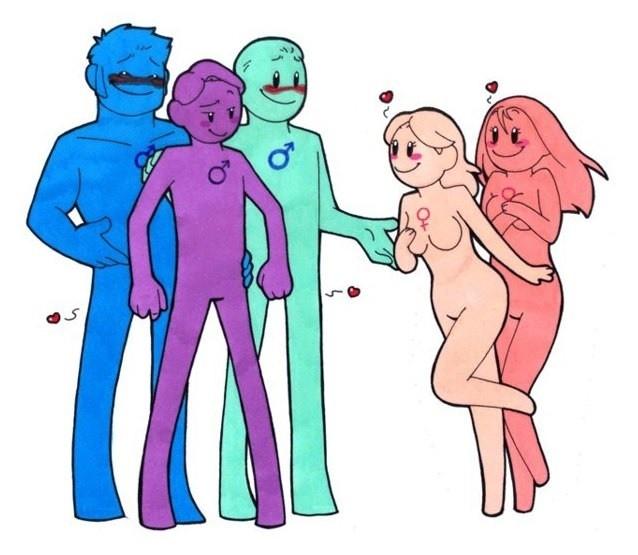 Турухтан (птица такая). Самцы имеют три типа стратегии полового поведения, о чём заявляется различной окраской. Отличная иллюстрация к тому, что гендер как явление может встречаться и в дикой природе.
