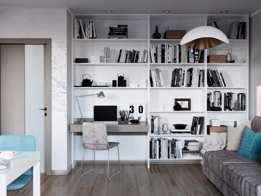 Проект квартиры 39 м (с лоджией – 42 м).