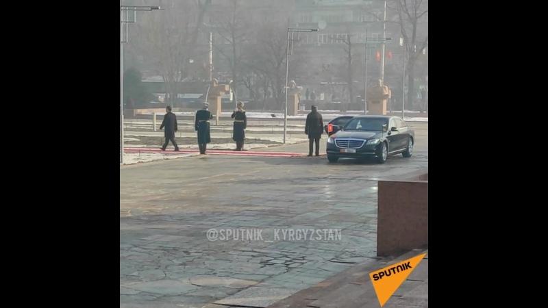 Как Садыр Жапаров прибыл в филармонию