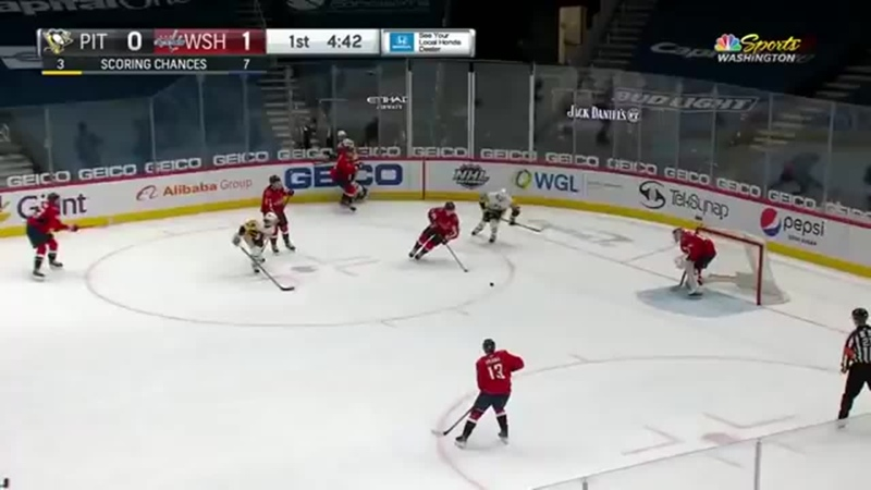 Tom Wilson Plows Through Mark Jankowski With Late Hit At Centre Ice