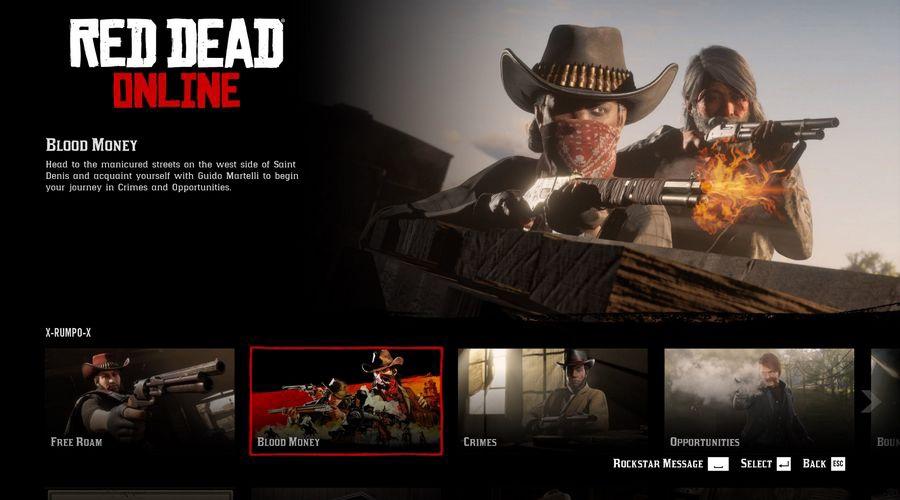 Blood Money в Red Dead Online