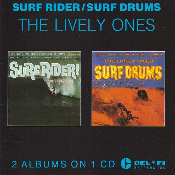 The Lively Ones album Surf Rider!/Surf Drums