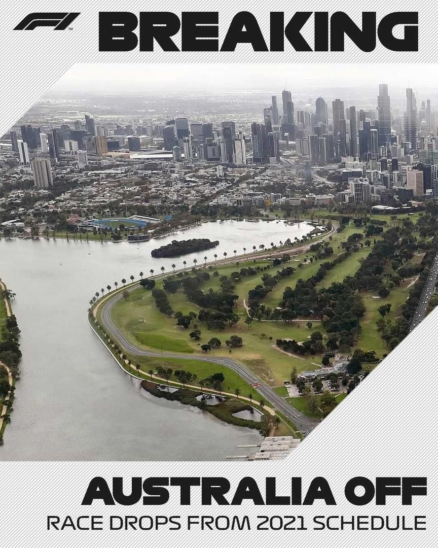 Australian Grand Prix cancellation in F1 2021