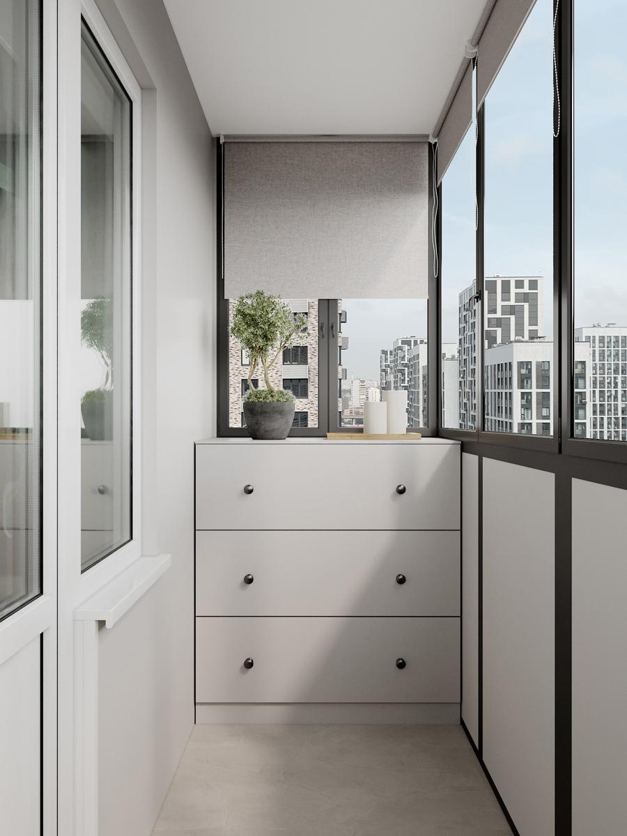 Концепт маленькой квартиры-студии 21 кв.