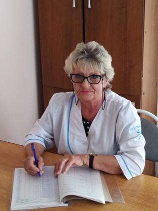 Чернятина Любовь Михайловна - медицинская сестра, стаж 42года.