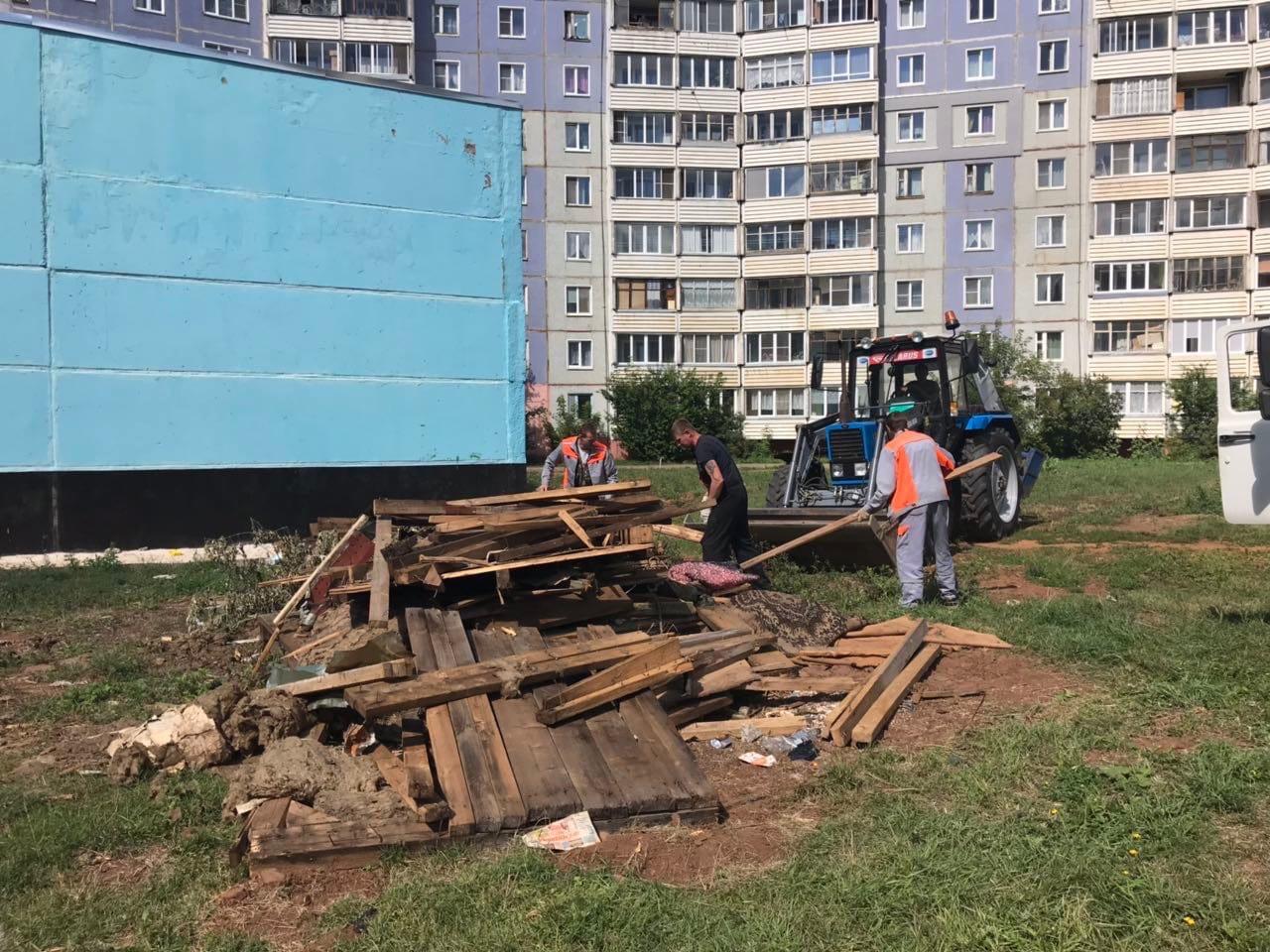 Улица Московская дом 164 Приступили к погрузке