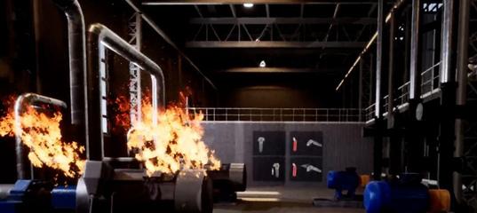 Отработка навыков пожаротушения в VR-тренажере