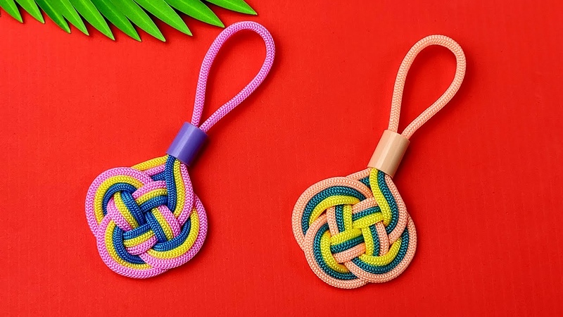 Super Easy Paracord Lanyard Keychain   How to make a Paracord Key Chain Handmade DIY Tutorial 7