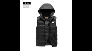 Брендовая одежда, жилетка, мужская новая осенняя теплая куртка без рукавов, мужская зимняя повседневная мужская жилетка с