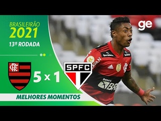 FLAMENGO 5 X 1 SÃO PAULO | MELHORES MOMENTOS | 13ª RODADA BRASILEIRÃO 2021 |