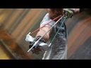 Creative Man Uses Bicycle Parts Plus PVC To Make Powerful Slingshot | Slingshot VS Huge Fish