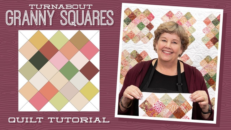 Make a Turnabout Granny Squares Quilt with Jenny Doan of Missouri Star Video Tutorial