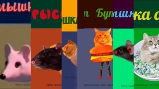 Мышка Сосиска, Крыска Ириска,Кошка Картошка, Кот Бутерброд, Кошка Окрошка, Крыска Покрышка.