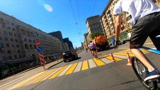 Обычная поездка по Москве: 1000 велосипедов за 6 минут