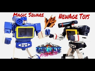 Transformer Magic Square Voice Ripple VS NewAge Scaramanga and Friends Legends Review (G1 Soundwave)