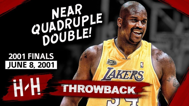 Shaquille O Neal EPIC Game 2 Highlights vs 76ers 2001 Finals 28 Pts 20 Reb 9 Ast 8 Blocks!