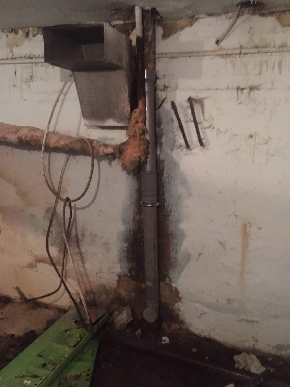 Улица Физкультурников дом 4 ремонт канализационного стояка