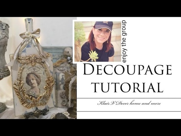 Decoupage tutorial for begginers!Ντεκουπαζ και παλαιωση για αρχαριους!