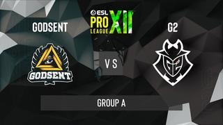 CS:GO - G2 Esports vs. GODSENT [Vertigo] Map 2 - ESL Pro League Season 12 - Group A - EU