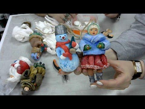 Дед мороз ватная игрушка сосулька Васько Елена