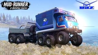 Spintires: MudRunner - MURASCHKA 6X6 Floating Vehicle Crossing The Lake