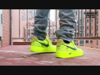 2018 off white x nike air force 1 black fluorescent green and air max 90 black first look on feet