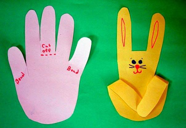картинка зайца из ладони секрет