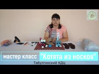 "мастер класс от Оксаны ""Котята из носков"""
