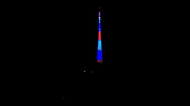 светится теле вышка в Луганске на 9 мая 2017