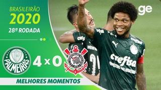 PALMEIRAS 4 X 0 CORINTHIANS | MELHORES MOMENTOS | 28ª RODADA BRASILEIRÃO 2020 |