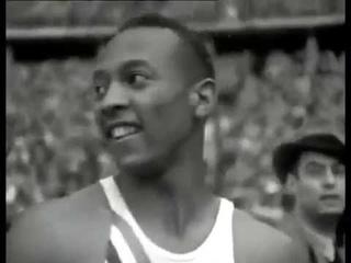 Джесси Оуэнс на Олимпийских играх 1936 год Берлин