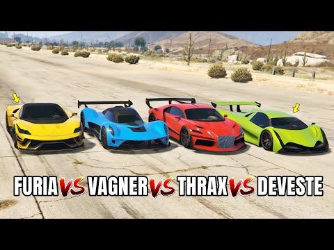 GTA 5 ONLINE - DEVESTE EIGHT VS FURIA VS VAGNER VS THRAX (WHICH IS FASTEST)
