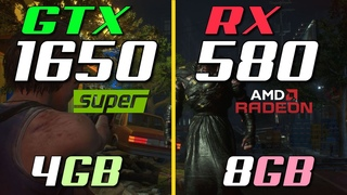 RX 580 8GB vs. GTX 1650 Super 4GB