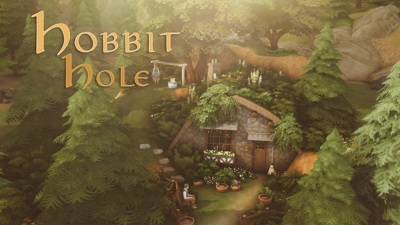 Hobbit hole 🌲🌻 The Sims 4 Speedbuild with Ambience Sounds