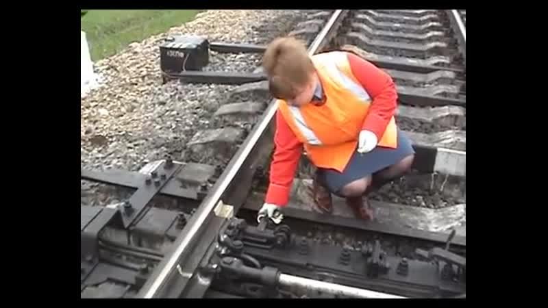 Отправление поезда при потере контроля стрелки