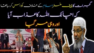 Allah Punish Gujrat CM When he was Speaking Against Islam I Dr Zakir Naik Logical Reply in Hindi