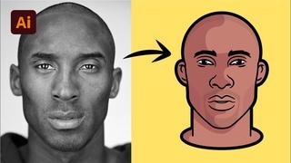 Adobe Illustrator CC 2021 Tutorial - Create a Kobe Bryant Vector Portrait