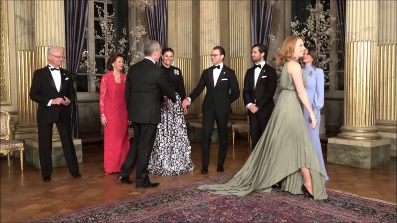 King dances at dinner party with the Royal Family