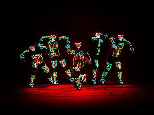 Neon show Laser man Неоновое шоу Лазер мен Лазерное шоу Laser show