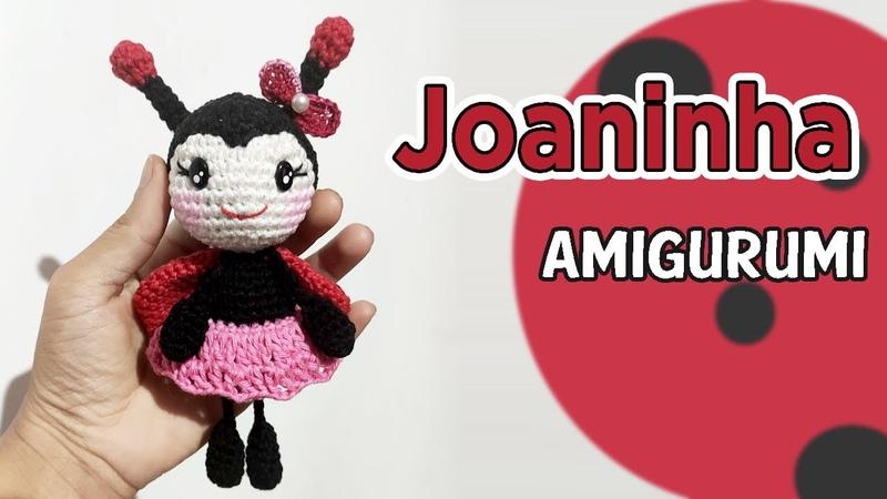 Joaninha bambola amigurumi